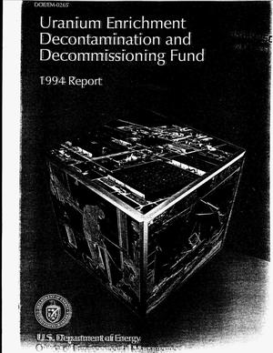 Primary view of object titled 'Uranium enrichment decontamination and decommissioning fund'.