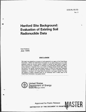 Primary view of object titled 'Hanford Site background: Evaluation of existing soil radionuclide data'.