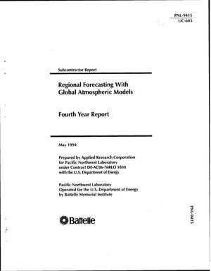 Primary view of object titled 'Regional forecasting with global atmospheric models; Fourth year report'.