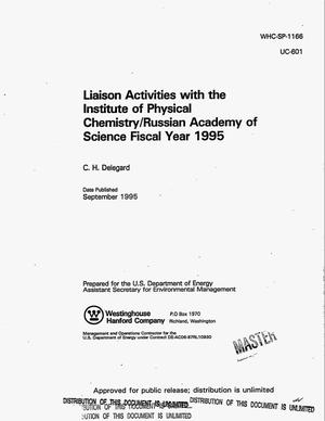 Primary view of object titled 'Liaison activities with the Institute of Physical Chemistry/Russian Academy of Science Fiscal Year 1995'.