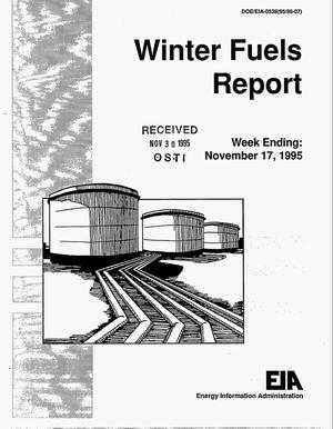 Primary view of object titled 'Winter fuels report week ending: November 17, 1995'.