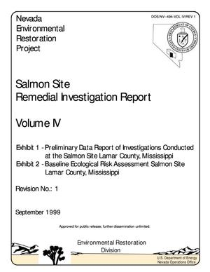 Primary view of object titled 'Salmon Site Remedial Investigation Report, Exhibit 1'.
