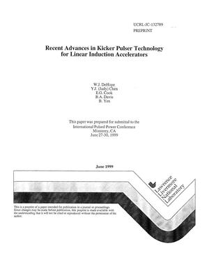 Primary view of object titled 'Recent advances in kicker pulser technology for linear induction accelerators'.