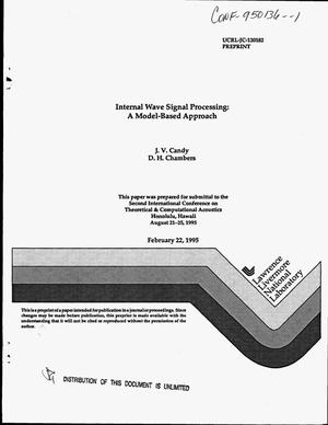 Primary view of object titled 'Internal wave signal processing: A model-based approach'.
