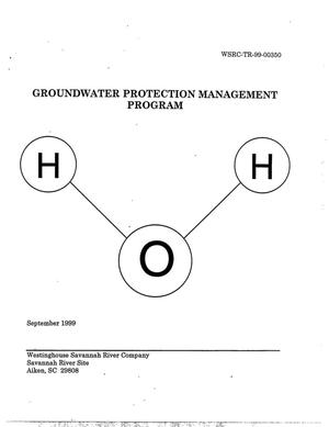 Primary view of object titled 'Groundwater Protection Management Program'.
