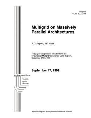 Primary view of object titled 'Multigrid on massively parallel architectures'.