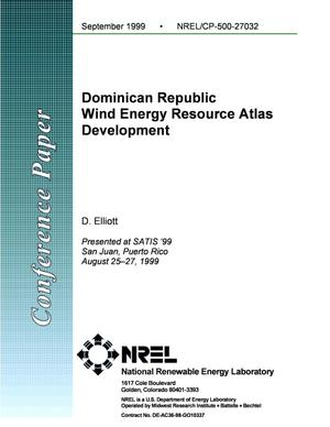 Primary view of object titled 'Dominican Republic Wind Energy Resource Atlas Development'.