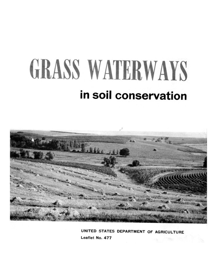 Grass waterways in soil conservation page 1 unt for Soil library
