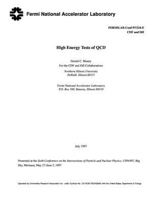 Primary view of object titled 'High energy tests of QCD'.