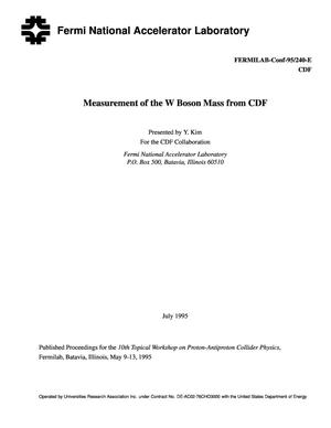 Primary view of object titled 'Measurement of the W boson mass from CDF'.