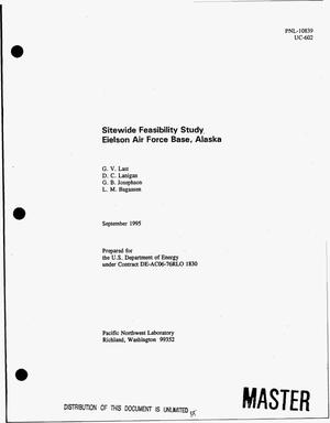 Primary view of object titled 'Sitewide feasibility study Eielson Air Force Base, Alaska'.
