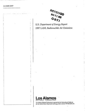 Primary view of object titled 'U.S. Department of Energy Report 1997 LANL Radionuclide Air Emissions'.