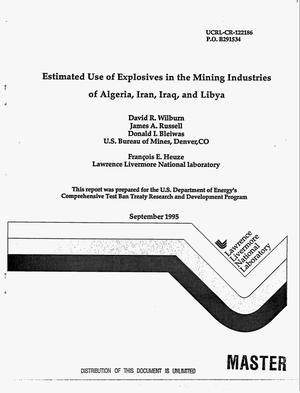 Primary view of object titled 'Estimated use of explosives in the mining industries of Algeria, Iran, Iraq, and Libya'.