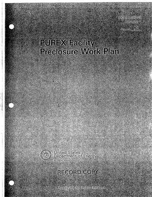 Primary view of object titled 'PUREX facility preclosure work plan'.