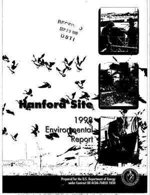 Primary view of object titled 'Hanford Site 1998 Environmental Report'.