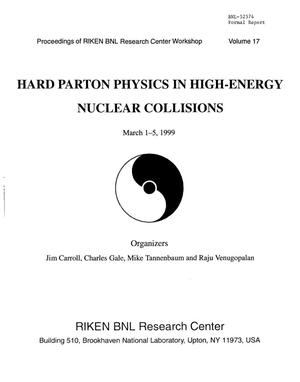 Primary view of object titled 'Hard Parton Physics in High Energy Nuclear Collisions. Proceedings of RIKEN BNL Research Center Workshop, Volume 17'.
