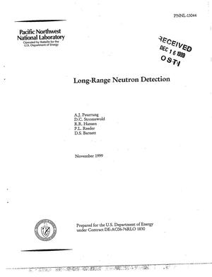 Primary view of object titled 'Long-Range Neutron Detection'.