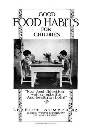 Primary view of object titled 'Good food habits for children.'.