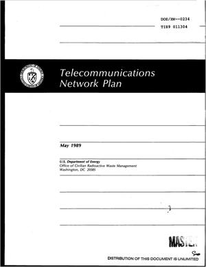 Primary view of object titled 'Telecommunications Network Plan'.