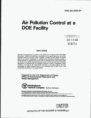 Primary view of object titled 'Air pollution control at a DOE facility'.