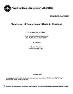 Primary view of object titled 'Simulation of beam-beam effects in tevatron'.