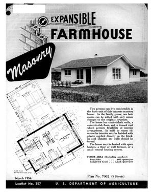 Primary view of object titled 'Expansible farmhouse : masonry.'.