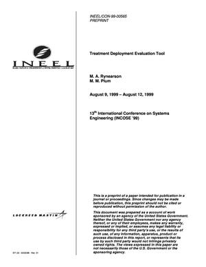 Primary view of object titled 'Treatment Deployment Evaluation Tool'.