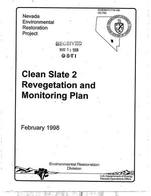 Primary view of object titled 'Clean Slate 2 Revegetation and Monitoring Plan'.