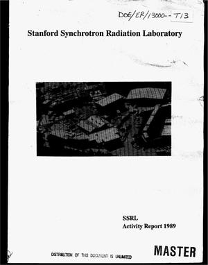 Primary view of object titled 'Stanford Synchrotron Radiation Laboratory. Activity report for 1989'.