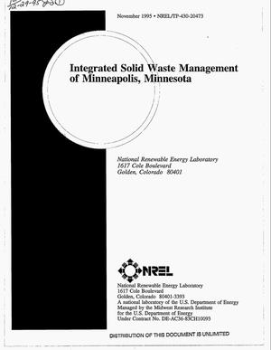 Primary view of object titled 'Integrated solid waste management of Minneapolis, Minnesota'.