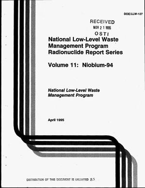 Primary view of object titled 'National Low-Level Waste Management Program radionuclide report series. Volume 2, Niobium-94'.