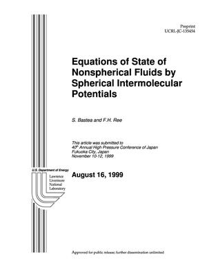 Primary view of object titled 'Equations of state of nonspherical fluids by spherical intermolecular potentials'.