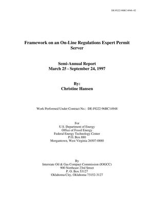 Primary view of object titled 'Framework on an On-Line Regulations Expert Permit Server'.