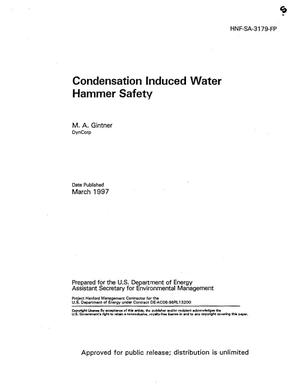 Primary view of object titled 'Condensation induced water hammer safety'.