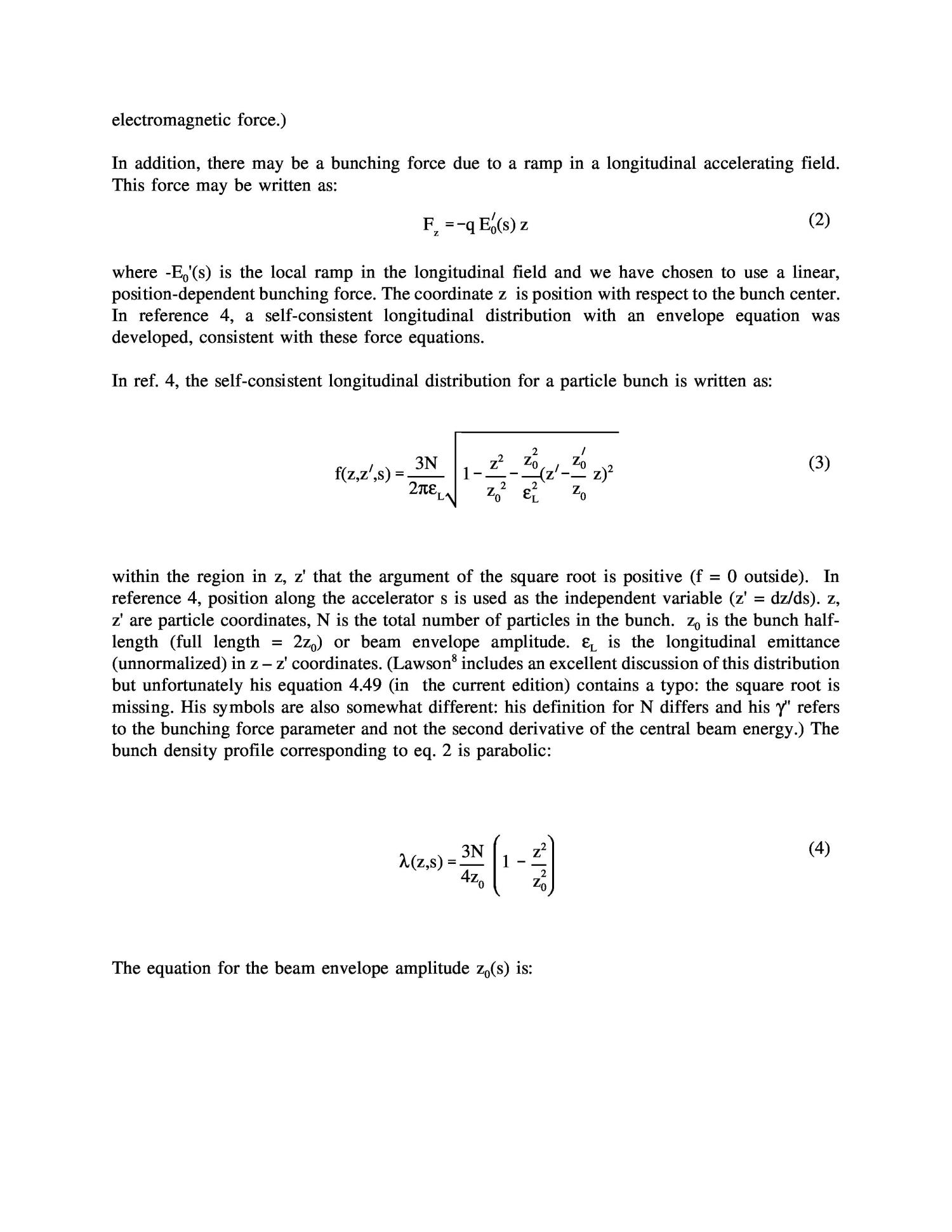 Extensions of the longitudinal envelope equation                                                                                                      [Sequence #]: 2 of 8