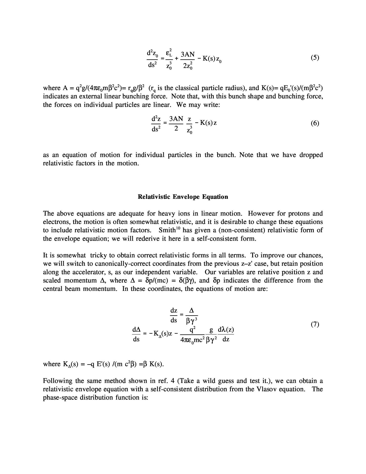 Extensions of the longitudinal envelope equation                                                                                                      [Sequence #]: 3 of 8