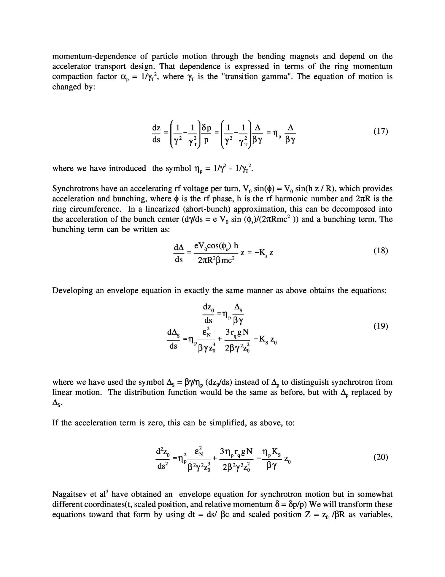 Extensions of the longitudinal envelope equation                                                                                                      [Sequence #]: 6 of 8