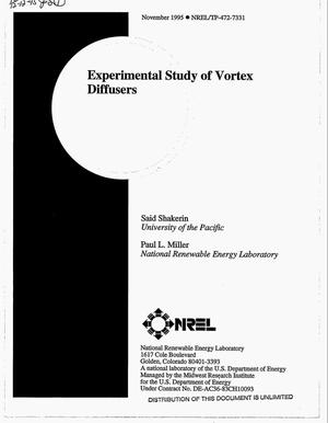 Primary view of object titled 'Experimental study of vortex diffusers'.