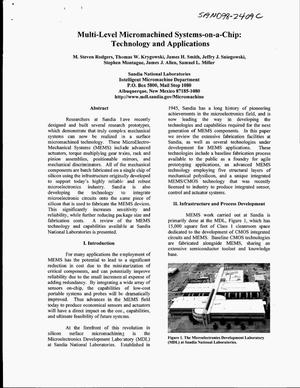 Primary view of object titled 'Multi-Level Micromachined Systems-on-a-Chip: Technology and Applications'.
