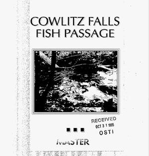 Primary view of object titled 'Cowlitz Falls Fish Passage.'.