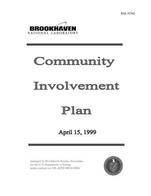 Primary view of object titled 'COMMUNITY INVOLVEMENT PLAN APRIL 15, 1999.'.
