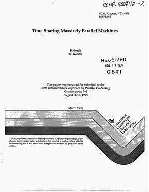 Primary view of object titled 'Time sharing massively parallel machines. Draft'.