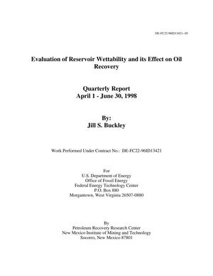 Primary view of object titled 'Evaluation of Reservoir Wettability and its Effect on Oil Recovery'.