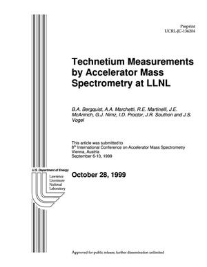Primary view of object titled 'Technetium measurements by accelerator mass spectrometry at LLNL'.