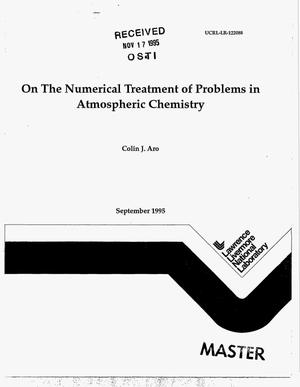Primary view of object titled 'On the numerical treatment of problems in atmospheric chemistry'.