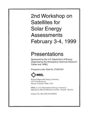Primary view of object titled '2nd Workshop on Satellites for Solar Energy Assessments'.