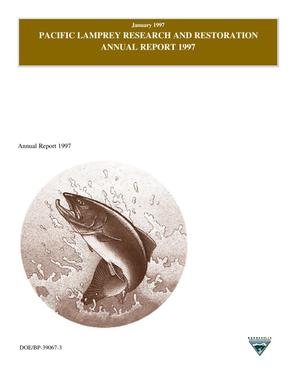 Primary view of object titled 'Pacific Lamprey Research and Restoration : Annual Report 1997.'.