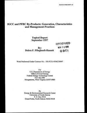 Primary view of object titled 'IGCC and PFBC By-Products: Generation, Characteristics, and Management Practices'.