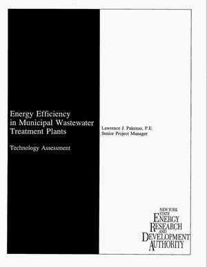 Primary view of object titled 'Energy efficiency in municipal wastewater treatment plants: Technology assessment'.