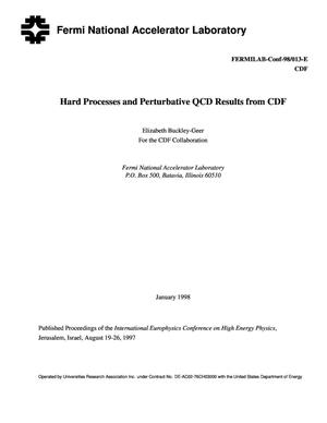Primary view of object titled 'Hard processes and perturbative QCD results from CDF'.